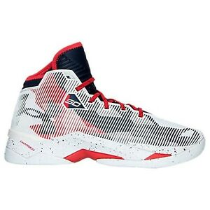Under Armour Men's Curry 2.5 Basketball Shoe WhiteMidnight NavyRed 10 D(M) US