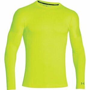 Under Armour Coldgear Infrared Grid Zip Mock - Men's High - Vis Yellow  Rough