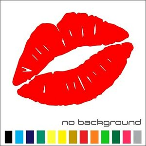 Kiss Lips Mark Vinyl Sticker Die-cut Car Decal Sexy (Color & Size to Choose)