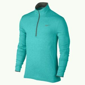 NIKE GOLF Half Zip Dri Fit Lightweight Flex Knit Pullover Jacket Shirt Mens M XL