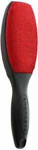 Evercare Magik Double Sided Fabric Lint Brush With Comfort Grip Handle Black/Red