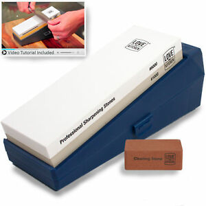 Professional Knife Sharpening Stone Kit Grits 1000 6000 Chef amp; Kitchen Knives