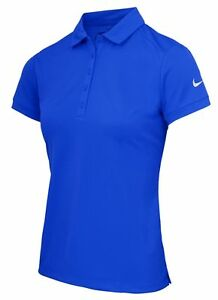 Nike NK241 royal blue womens victory solid dri-fit polo shirt size XS-XL