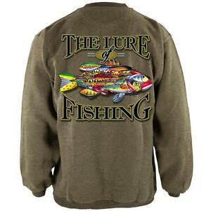 The Lures Of FIshing Henley Mens Pullover Sweatshirt