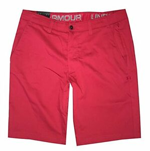 Under Armour Men UA GOLF Chino Shorts 28 Red New