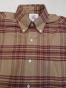 Brooks Brothers Black Fleece Thom Browne Plaid Sport Shirt NWOT $195 Made in USA