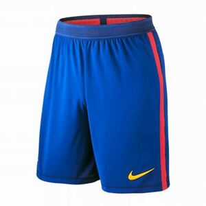 Nike Barcelona FC 2016-17 Men Match Soccer Short - Blue Red