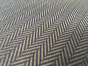 DeLany & Long OUTDOOR Chevron Herringbone Upholstery Fabric Cutter Navy 5.25 yd