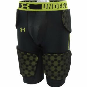 Boy's Under Armour Gameday Armour 5 Pad Girdle BlackVelocity Size Large New