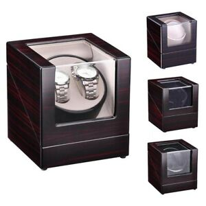 Automatic Single  Dual Watch Winder Wood Display Box Case Storage Japan Motor