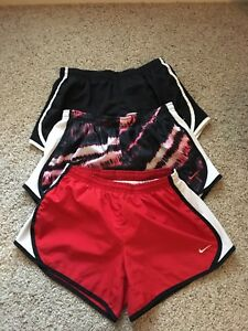 3 Pair Of Girls Nike Dry Fit Shorts Size Large