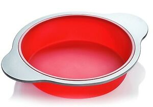 Silicone Round Cake Pan Large 9 inch Baking Mold by Boxiki Kitchen Best Non...