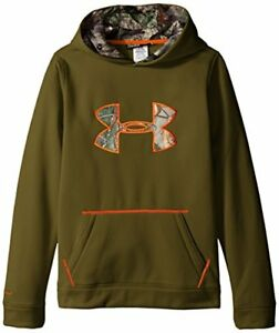 Under Armour Boys' Storm Caliber Hoodie GreenheadToxic Youth Medium New