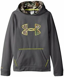 Under Armour Boys' Storm Caliber Hoodie Carbon HeatherSunbleached Youth X-Small