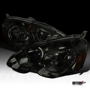 For 2002 2004 Acura RSX DC5 Smoke Lens Tinted Headlights Head Lamps LeftRight $85.99