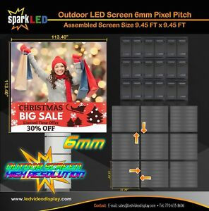 Outdoor LED Sign P6 9.45'x9.45' Full-Color Single-Sided Digital Display