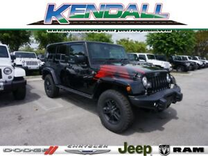 2017 Jeep Wrangler Winter Edition 2017 Jeep Wrangler Unlimited Winter Edition 11 Miles Black Clearcoat 4x4 Winter