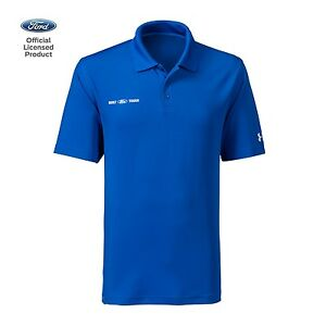 Men's Built Ford Tough Under Armour Performance Polo T-Shirt Shirt Blue Official