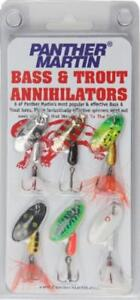 MELIP Bass and Trout Annihilator Spinner Fishing Lure Kit Pack of 6