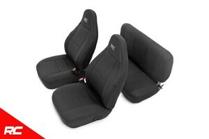 Rough Country Neoprene Seat Covers Black fits 1997-2002 Jeep Wrangler TJ Set