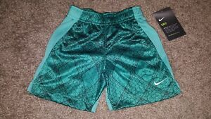 Nike Dry Toddler Boy Size 3T Teal Black Dri-Fit Shorts NEW NWT