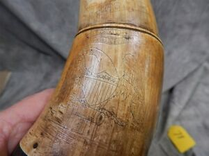 1866 Eagle Engraved and named Powder Horn ~ Gorgeous !!