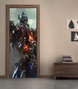 Transformers Optimus Prime DOOR WRAP Removable Decal Wall Sticker Mural D173