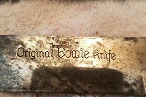 ANTIQUE BOWIE KNIFE 6 inch blade
