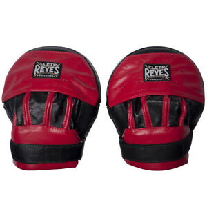 Cleto Reyes Leather Curved Punch Mitts Black Red $139.49