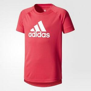1708 adidas Youth Badge of Sport Girl's Training Running TeeT-Shirt CE6117