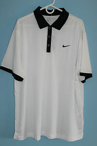 NEW MENS NIKE TOUR PERFORMANCE DRI-FIT GOLF POLO SHIRT SIZE XL WHITE MSRP $79.99
