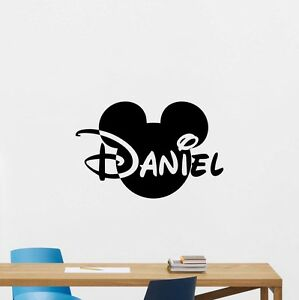 Personalized Name Mickey Mouse Wall Decal Custom Vinyl Sticker Baby Decor 261crt