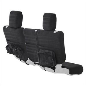 Smittybilt 56646501 Gear Fit Seat Cover Rear Black For Jeep Wrangler JK 4-Door