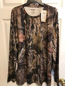 NWT Mossy Oak Camo Red Head Brand 2XL long Sleeve Dry Fit Material Shirt