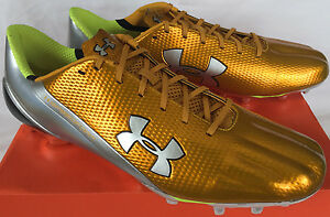Under Armour Speedform MC 1258013-711 Chrome Cleats Football Shoes Men's 16 NFL