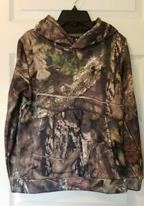 Under Armour Youth Boys Hoodie Size M Mossy Oak Break Up Country Camo Hunting