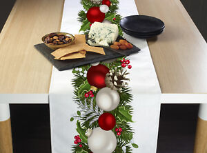 Christmas Garland Border Table Runners 12quot; x 72quot; or 14quot; x 108quot;