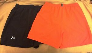 2 pair of Men's Under Armour Running Shorts size Large built in liner