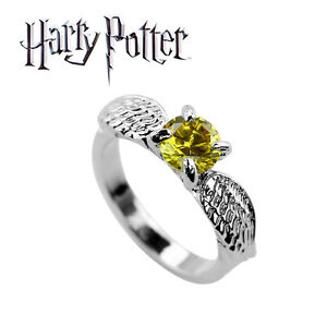 Harry Potter Golden Snitch Ring Wizarding World Noble Quidditch Hogwarts HP $14.00