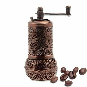 Turkish Handmade Copper Coffee Salt Pepper Spice Grinder Mill 4.2#x27;#x27; IN