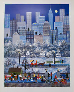Jane Wooster Scott NEW YORK CENTRAL PARK Hand Signed Limited Edition Lithograph $59.99