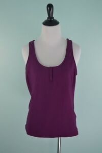 Nike Fit Dry Racerback Tank Top Women's Size Large (12-14) Purple Workout Shirt