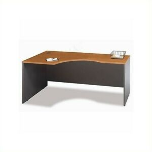Bush Business Furniture Series C Bow Front Wood Computer Desk in Natural Cherry