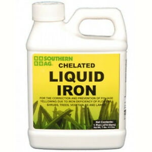Chelated Liquid Iron 5% Flowers Shrubs Trees Vegetables Lawns 16oz NOT FOR: CA