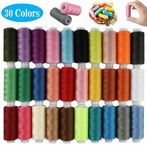 30 Spools Sewing Thread Polyester Assorted 250 Yard For Hand Machine Set US $14.48