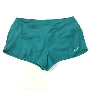 Nike Dri Fit Running Shorts Crew Womens Large Teal Athletic 3