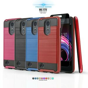 for LG ARISTO 2 ARISTO 2 PLUS Protech Series Phone Case Shockproof Cover $7.99