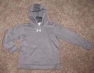 Under Armour Hoodie Sweatshirt Boy's M L XL Gray Coldgear