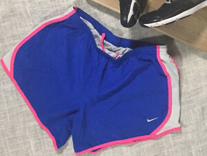 Nike Girls Kids Youth Size XL Tempo Running Shorts Pink Blue Pink Built-in Liner