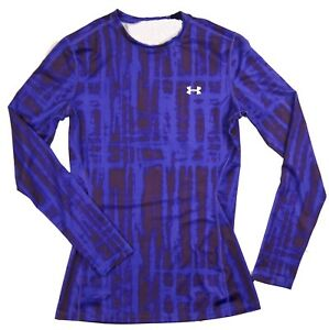 Under Armour Women $59 UA PRINTED ColdGear Fitted Crew Long Sleeve Shirt 1236814